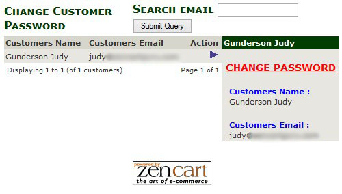 Change Customer Password Via Zen Cart Admin