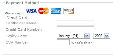 Credit Card Images Installed on Checkout Page
